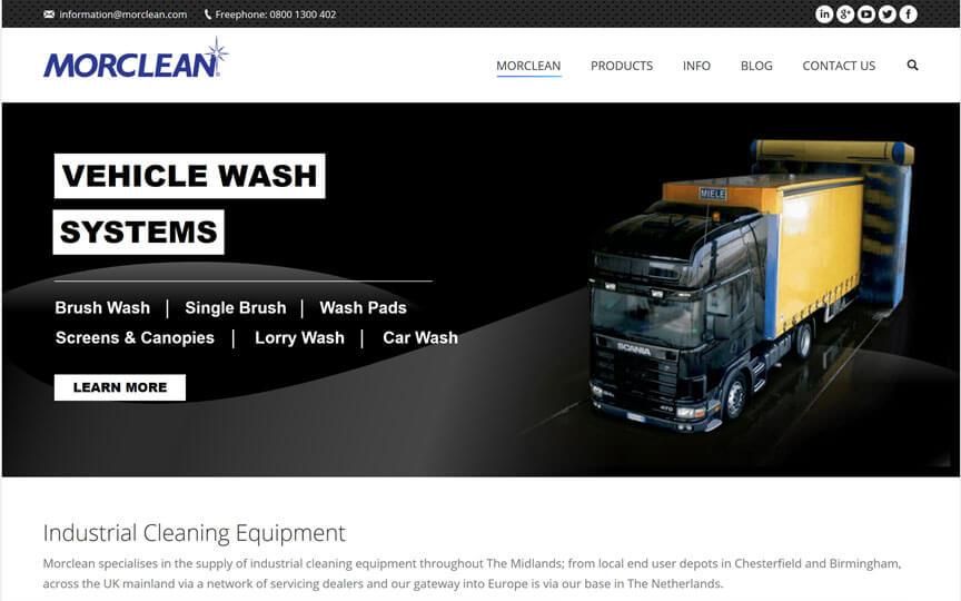 Morclean homepage