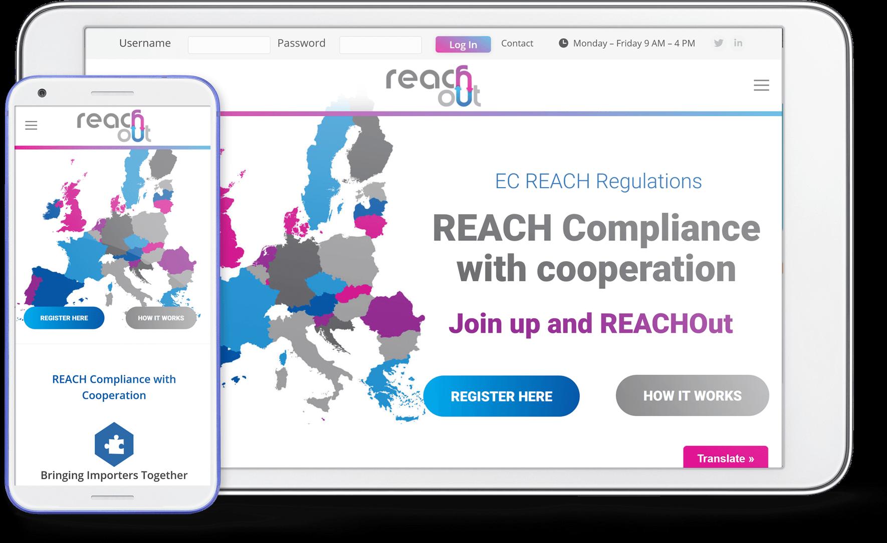 reachout mobile screen shot