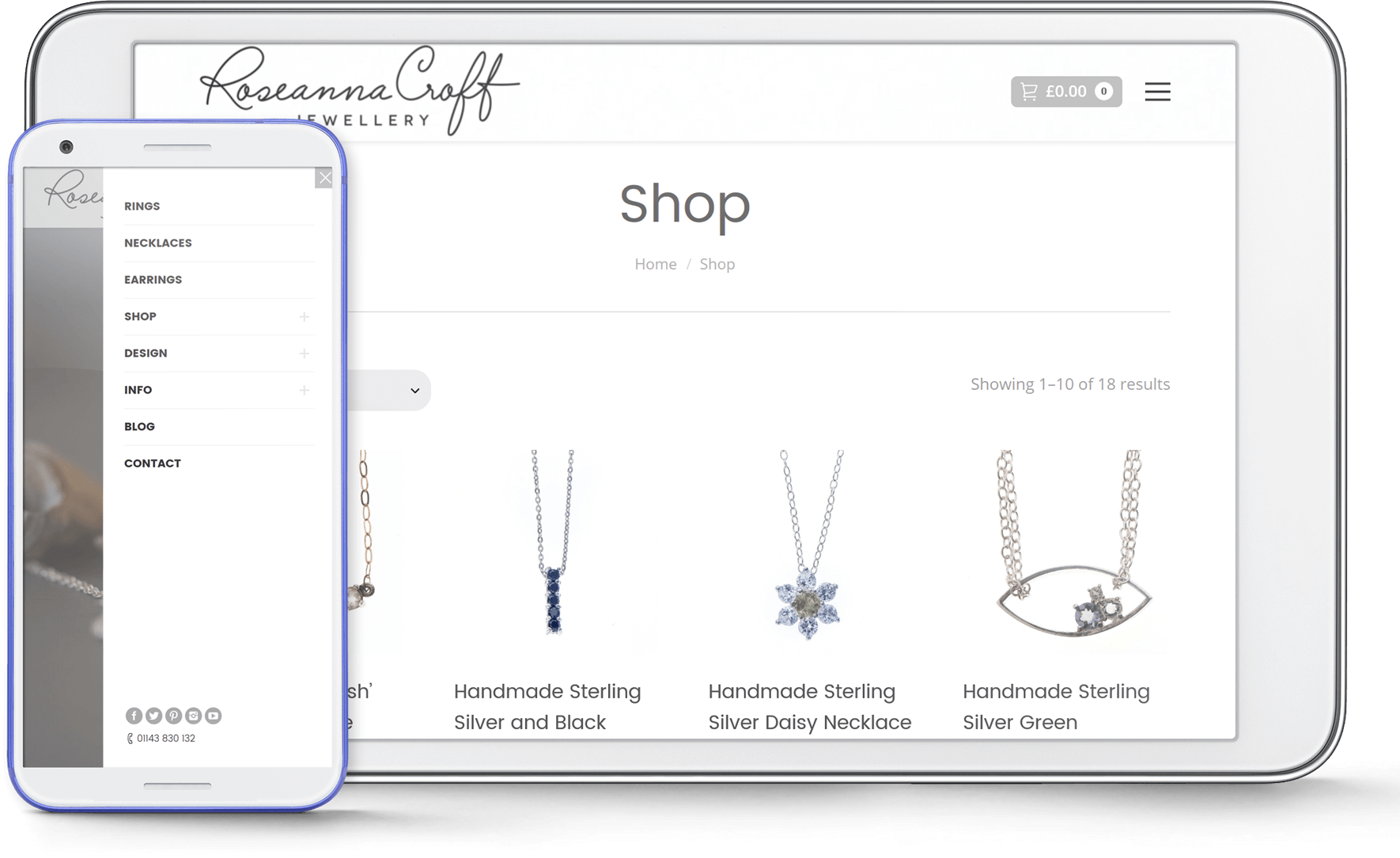 Roseanna Croft Jewellery screenshot mobile