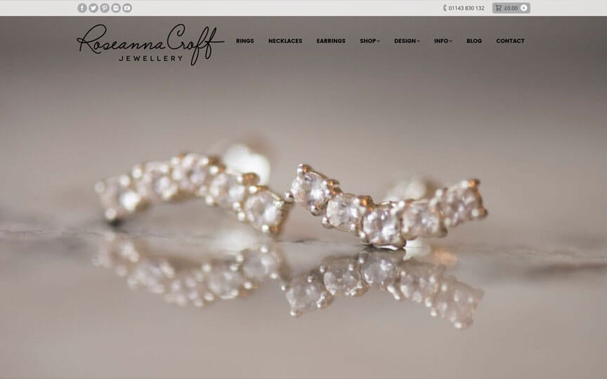 Roseanna Croft Jewellery homepage