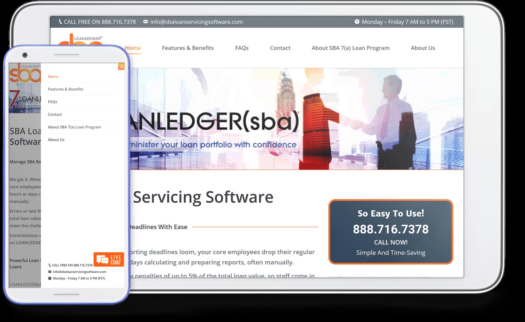 sba loan servicing screenshot mobile