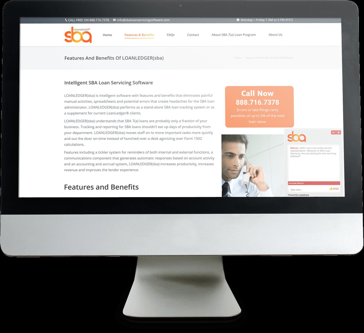 sba loan servicing screenshot